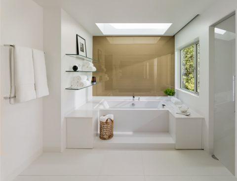 卫生间现代风格效果图大全2017图片_土拨鼠休闲优雅浴室现代风格装修设计效果图欣赏