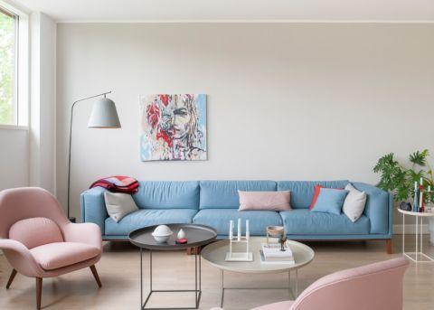 客厅沙发北欧装饰实景图片