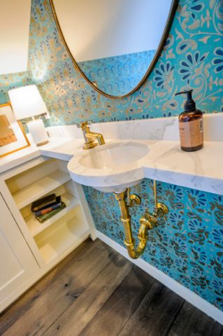 气焰气焰地中海浴室柜装修实景图片
