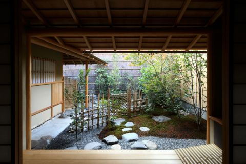 精雕细刻花园日式实景图