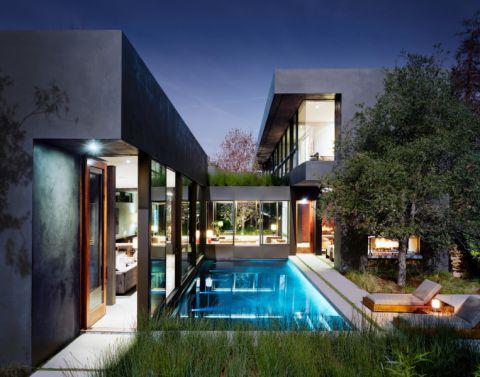 2019現代花園設計圖片 2019現代泳池裝修圖片