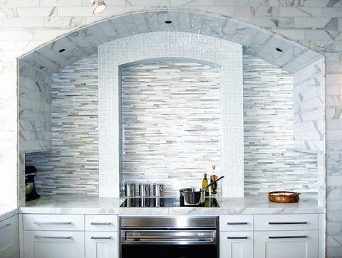 地中海厨房灶台装饰设计图片