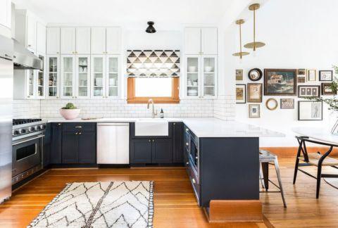 清爽厨房装修实景图