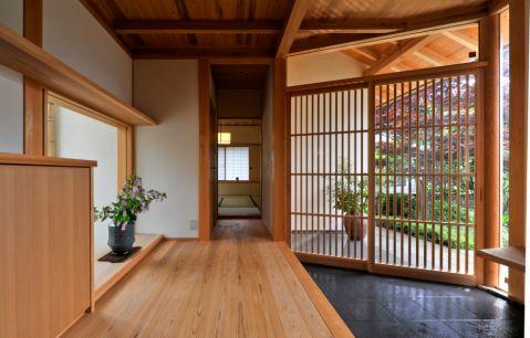 低调优雅日式地板室内效果图