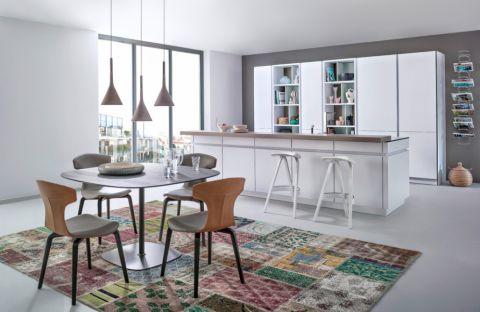2019现代厨房装修图 2019现代吧台装修设计图片