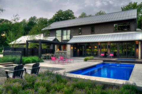 2019现代70平米设计图片 2019现代庭院装修效果图大全