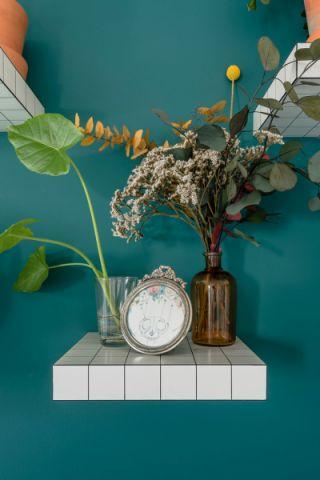 客厅绿色细节北欧风格装修设计图片