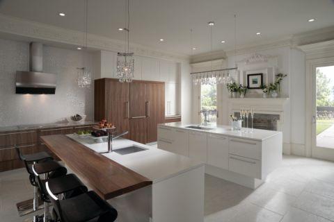 厨房白色厨房岛台现代风格装饰设计图片