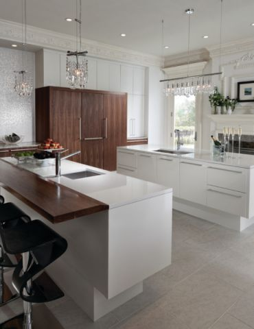 厨房白色灯具现代风格装修效果图