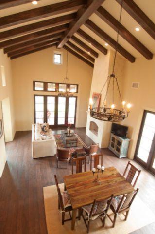 客厅咖啡色地板砖地中海风格装修图片