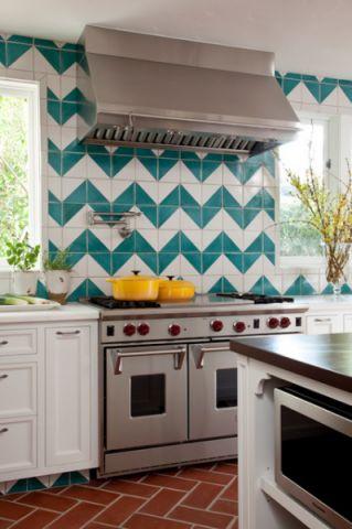 厨房地中海风格效果图大全2017图片_土拨鼠干净写意厨房地中海风格装修设计效果图欣赏