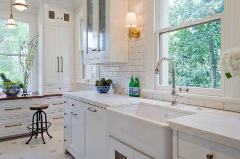 厨房美式风格效果图大全2017图片_土拨鼠温暖富丽厨房美式风格装修设计效果图欣赏