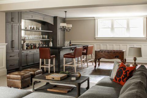 客厅美式风格效果图大全2017图片_土拨鼠温暖雅致客厅美式风格装修设计效果图欣赏