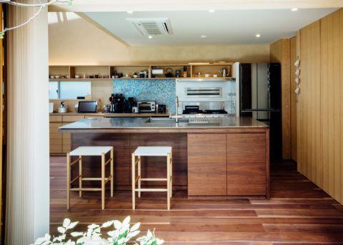 厨房现代风格效果图大全2017图片_土拨鼠优雅自然厨房现代风格装修设计效果图欣赏