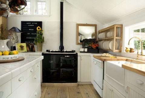 厨房北欧风格效果图大全2017图片_土拨鼠干净温馨厨房北欧风格装修设计效果图欣赏