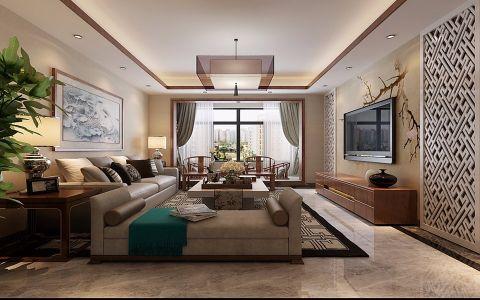 中式客廳吊頂裝修設計