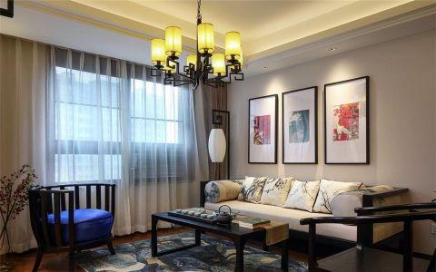 亚东国际公寓89平米中式风格两室一厅一卫装修效果图