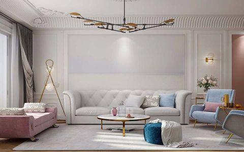 复地海上海120平简约风格三居室装修效果图
