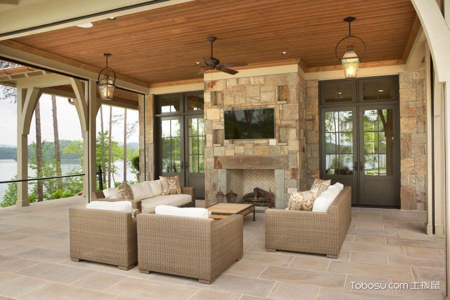 阳台沙发美式风格装潢效果图