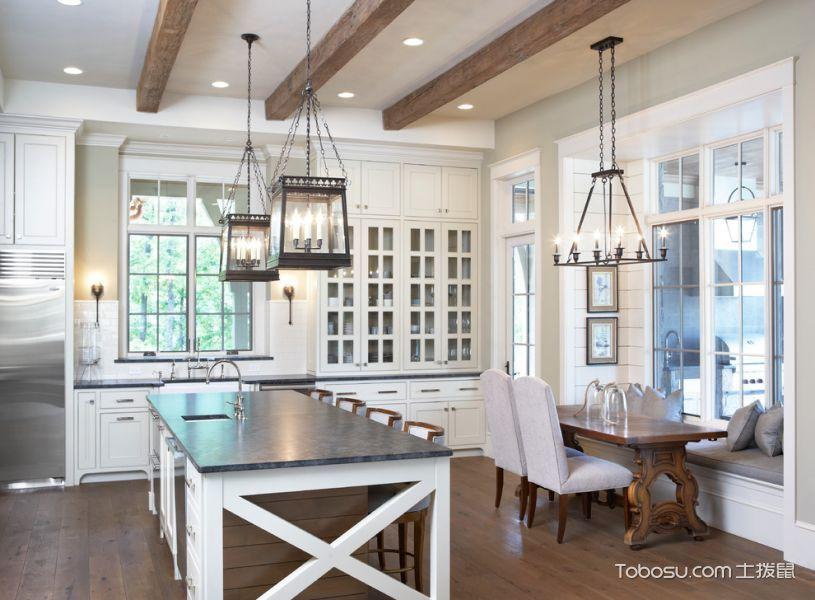 厨房灯具美式风格装饰图片