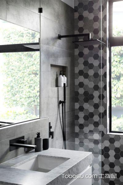 卫生间窗台现代风格装潢效果图