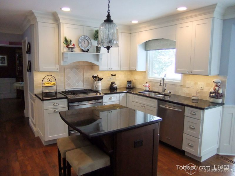 厨房灯具美式风格装潢图片