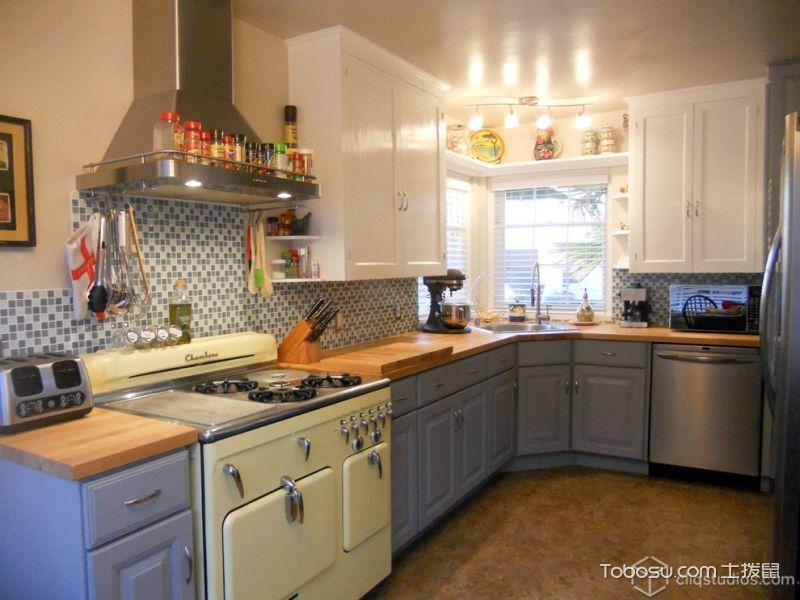 厨房灯具美式风格装修设计图片