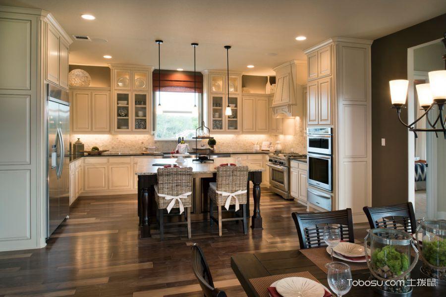厨房灯具美式风格装修图片