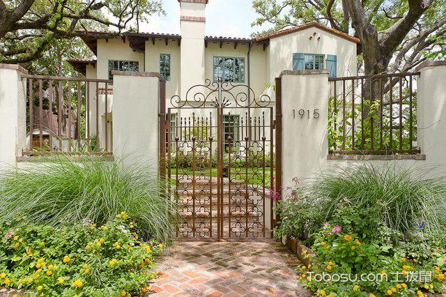 花园走廊地中海风格装潢图片