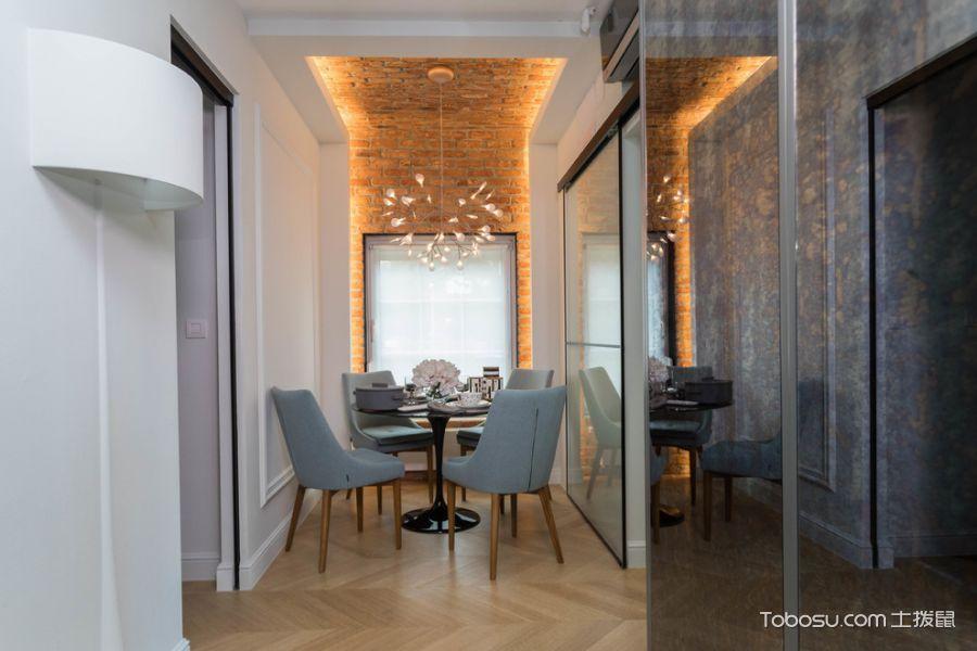 餐厅白色细节混搭风格效果图