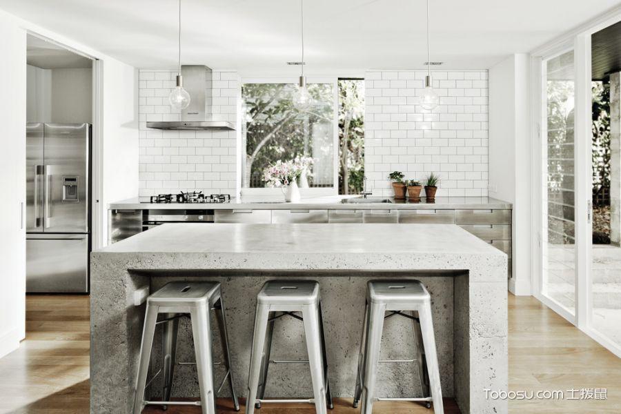 厨房白色灯具现代风格装饰设计图片