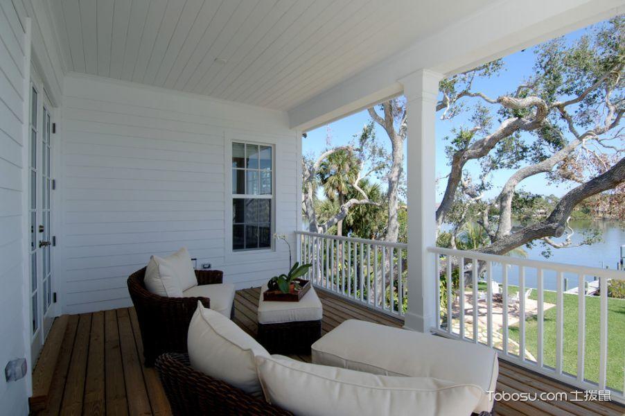 阳台白色沙发美式风格装潢图片