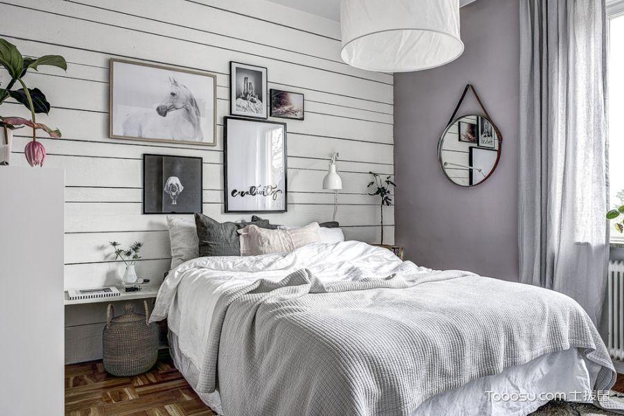 卧室照片墙北欧风格装潢图片