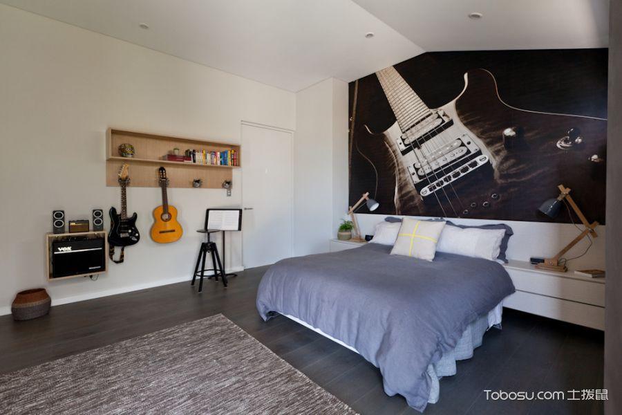 卧室照片墙北欧风格装潢设计图片