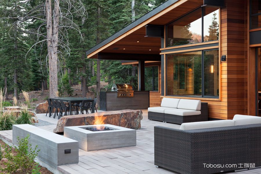阳台灰色沙发现代风格装饰设计图片
