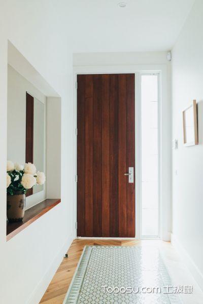 玄关白色门厅现代风格装潢效果图