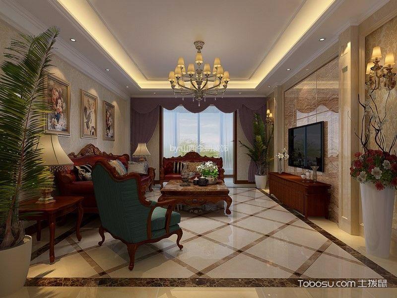 晋阳湖一号190平米三室两厅欧式风格装修效果图