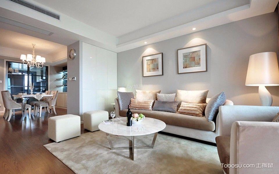 科尔世纪外滩107平米欧式风格三居装修效果图