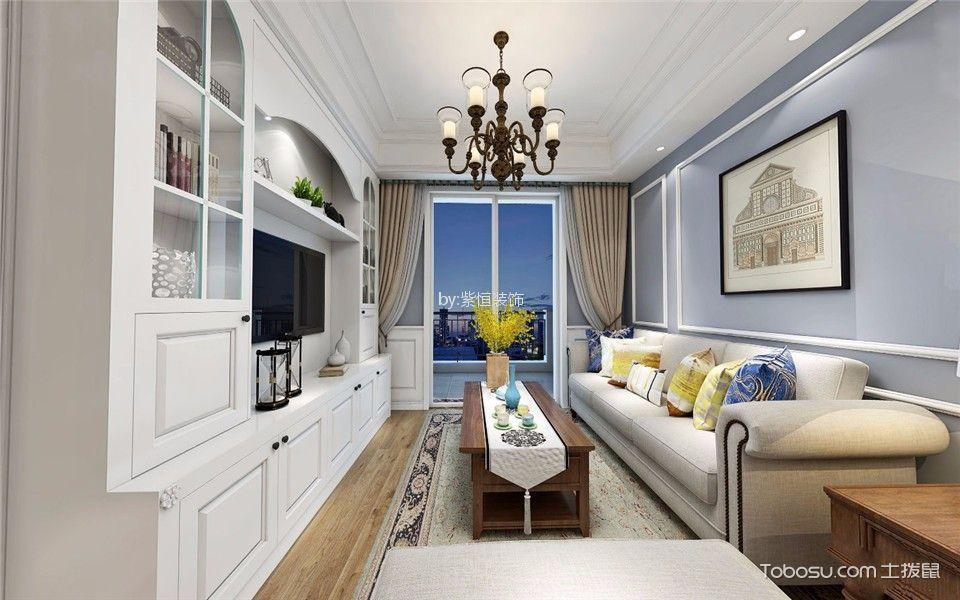 泰禾金尊府120平三室二厅美式风格装修效果图