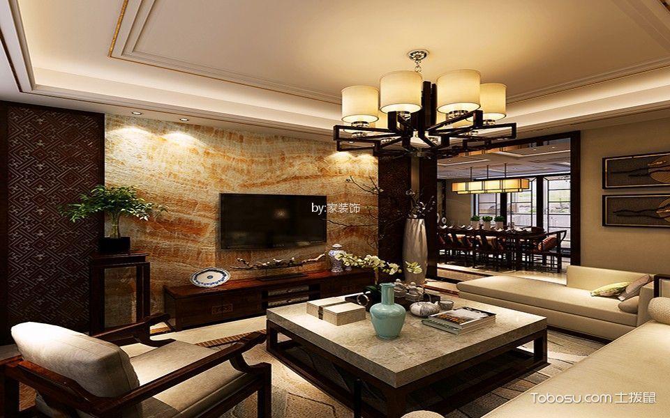 金轮新城120平米中式风格三居室装修效果图