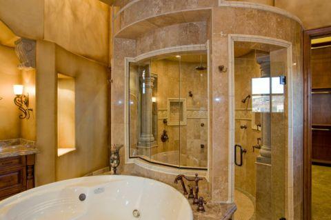 浴室地中海风格效果图大全2017图片_土拨鼠美感唯美浴室地中海风格装修设计效果图欣赏