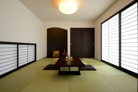 客厅日式风格效果图大全2017图片_土拨鼠大气优雅客厅日式风格装修设计效果图欣赏