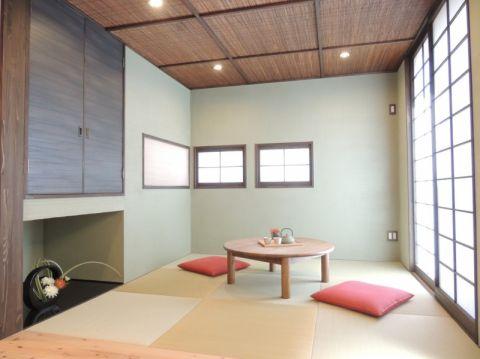 客厅日式风格效果图大全2017图片_土拨鼠完美唯美客厅日式风格装修设计效果图欣赏