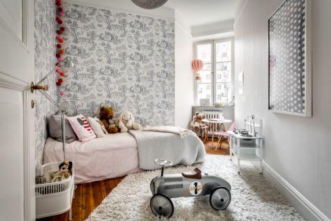 儿童房北欧风格效果图大全2017图片_土拨鼠温暖舒适儿童房北欧风格装修设计效果图欣赏