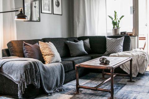客厅北欧风格效果图大全2017图片_土拨鼠个性淡雅客厅北欧风格装修设计效果图欣赏