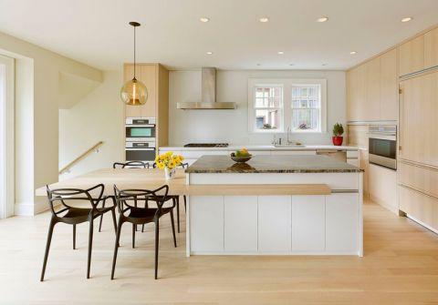 厨房北欧风格效果图大全2017图片_土拨鼠现代休闲厨房北欧风格装修设计效果图欣赏