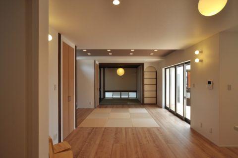 客厅日式风格效果图大全2017图片_土拨鼠典雅自然客厅日式风格装修设计效果图欣赏