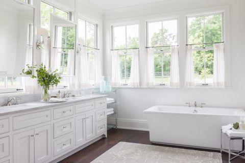 低调优雅卫生间窗帘平面图