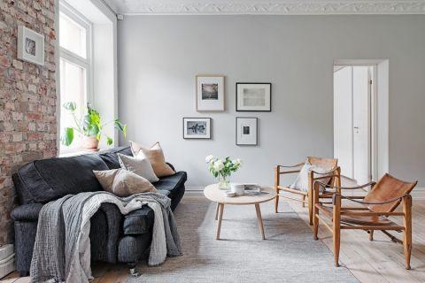 客厅照片墙北欧风格装潢图片