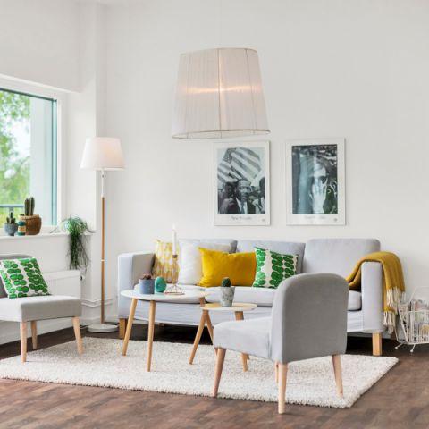 客厅北欧风格效果图大全2017图片_土拨鼠个性风雅客厅北欧风格装修设计效果图欣赏